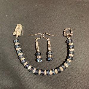 Jewelry - Swarovski crystal bracelet & earring set